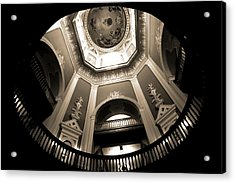 Golden Dome Ceiling Acrylic Print by Dan Sproul