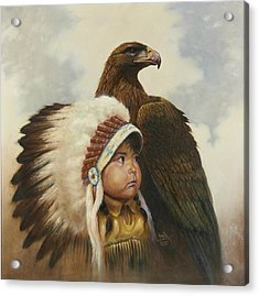Golden Eagles Acrylic Print by Gregory Perillo