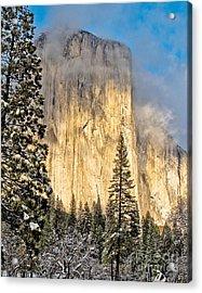 Golden El Capitan Acrylic Print by Kim Price