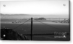 Golden Gate And Bay Bridges Acrylic Print by Linda Woods