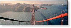 Golden Gate Bridge California Usa Acrylic Print by Panoramic Images