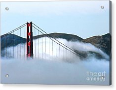 Golden Gate Bridge Clouds Acrylic Print by Tap On Photo
