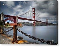 Golden Gate Bridge Acrylic Print by Eduard Moldoveanu