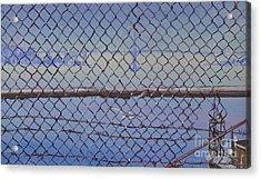 Golden Gate From Alcatraz Acrylic Print by Marco Ippaso