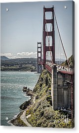 Golden Gate Acrylic Print by Heather Applegate