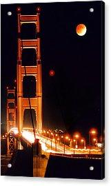 Golden Gate Night Acrylic Print by DJ Florek