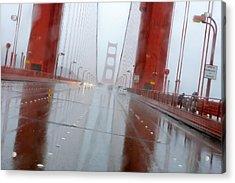 Golden Gate Rain Acrylic Print by Daniel Furon