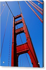 Golden Gate Tower Acrylic Print by Rona Black