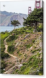 Golden Gate Trail Acrylic Print by Kate Brown
