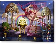 Golden Gazebos Acrylic Print by Ciro Marchetti