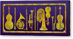 Golden Orchestra Acrylic Print by Jenny Armitage