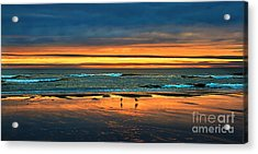 Golden Pacific Acrylic Print by Robert Bales