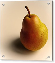 Golden Pear Acrylic Print by Julie Magers Soulen
