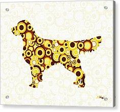 Golden Retriever - Animal Art Acrylic Print by Anastasiya Malakhova