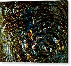 Golden Ripples Acrylic Print by Lehua Pekelo-Stearns