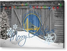 Golden State Warriors Acrylic Print by Joe Hamilton