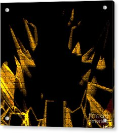 Golden Statues - Brighter Acrylic Print by David Winson