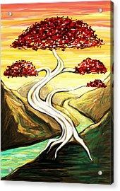 Golden Sunrise Acrylic Print by Shawna  Rowe
