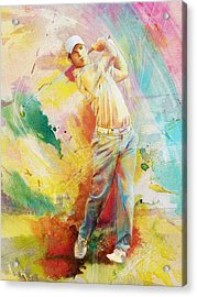Golf Action 01 Acrylic Print by Catf