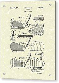 Golf Club 1936 Patent Art Acrylic Print by Prior Art Design