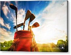 Golf Equipment  Acrylic Print by Michal Bednarek