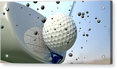 Golf Impact Acrylic Print by Allan Swart