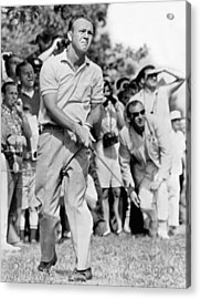Golfer Arnold Palmer Acrylic Print by Underwood Archives
