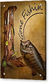Gone Fishin Acrylic Print by Bill Wakeley