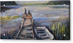 Gone Fishin' Acrylic Print by Donna Tuten