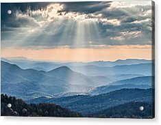 Good Afternoon From Max Patch Acrylic Print by Rob Travis