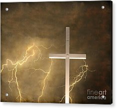 Good Friday In Sepia Texture Acrylic Print by James BO  Insogna