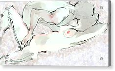 Good Morning - Erotic Art Acrylic Print by Carolyn Weltman