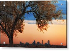Good Morning Denver Acrylic Print by Darren  White