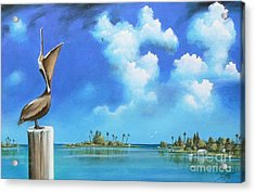 Landscapes Acrylic Print featuring the painting Good Morning Florida by Susi Galloway