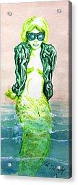 Good Morning Little Mermaid Acrylic Print by Del Gaizo
