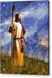 Good Shepherd Acrylic Print by Christian Art