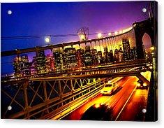 Goodbye New York City Acrylic Print by Az Jackson