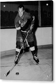Gordie Howe Poster Acrylic Print by Gianfranco Weiss