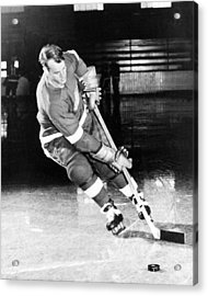 Gordie Howe Skating With The Puck Acrylic Print by Gianfranco Weiss