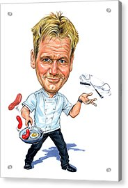 Gordon Ramsay Acrylic Print by Art