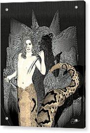Male Medusa  Acrylic Print by Quim Abella