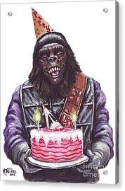 Gorilla Party Acrylic Print by Mark Tavares