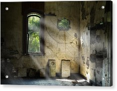 Gospel Center Church Interior Acrylic Print by Tom Mc Nemar