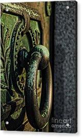 Goth - Crypt Door Knocker Acrylic Print by Paul Ward