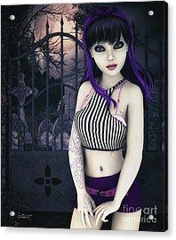Gothic Temptation Acrylic Print by Jutta Maria Pusl