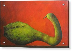 Gourd Acrylic Print by Marie-louise McHugh