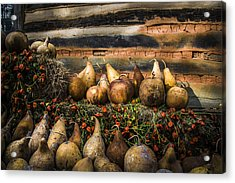 Gourds Acrylic Print by Debra and Dave Vanderlaan