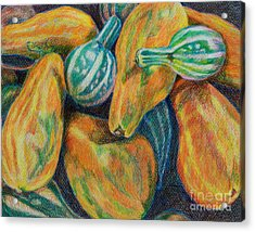 Gourds For Sale Acrylic Print by Janet Felts