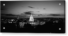Government Building Lit Up At Night, Us Acrylic Print by Panoramic Images
