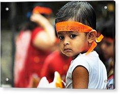 Govinda Kid Acrylic Print by Money Sharma